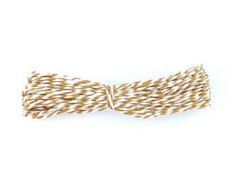 3 m cord in brown white paper 1.4 mm (30A)