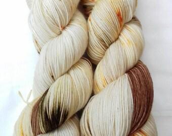 """Handpainted yarn  """"Fireworks """"handdyed superwash merinonylon sock and sport yarn/wool.100g. 425m."""