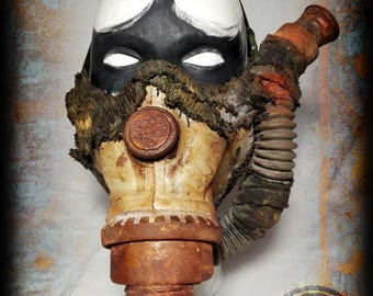 Half mask-Post apocalyptic half mask-gas pipes-Wasteland Warrior