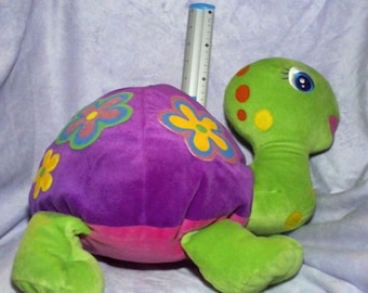 Lisa Frank Turtle Stuffed Animal Beanie Baby HUGE Peekaboo Turtle