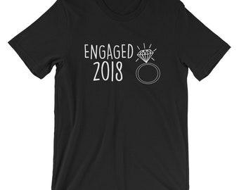 Engaged Established 2018 T-shirt Engagement Tee