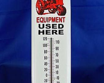 Vintage Style Farmall Red Farm Tractor Indoor / Outdoor Thermometer ~ Brand New in Package ~ Made in the USA!