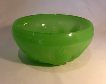 Jobling Art Deco Fir cone Jade Green Glass Bowl - original from the 1930s