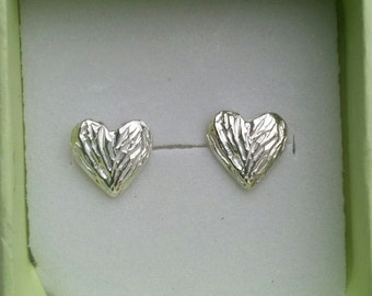 Heart Stud Earrings ,Silver Stud Earrings ,Sterling Silver Studs ,Handmade Studs ,Small Heart Earrings ,Girls Stud Earrings ,,Mother's Day