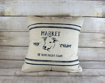 Throw Pillow, Milk Cow, Dairy Farm, Farmhouse Style