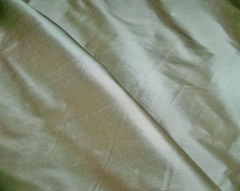 SCHUMACHER BELLINI Silk Dupioni Fabric 10 Yards SEAGLASS