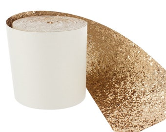Ribbon band of glittery gold 10 cm