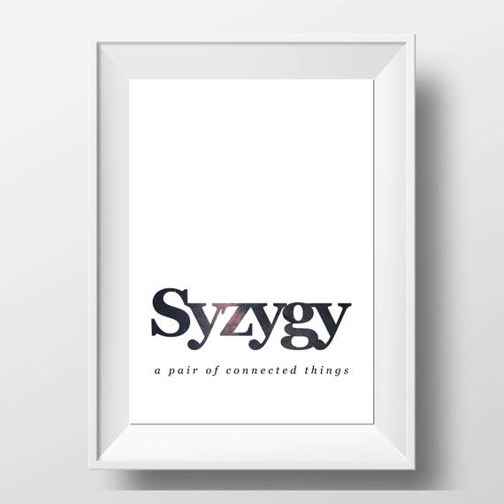 Like this item?  sc 1 st  Etsy & Syzygy Definition Print Word Wall Art Definition Wall