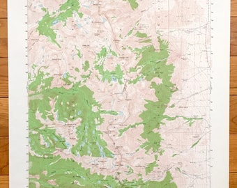 Antique Mt Pinchot, California 1953 US Geological Survey Topographic Map – Sierra Nevadas, Kings, Inyo National Forest, Fresno, Inyo County