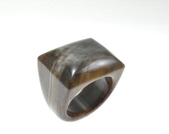 Size 10.5 Petrified Wood Ring