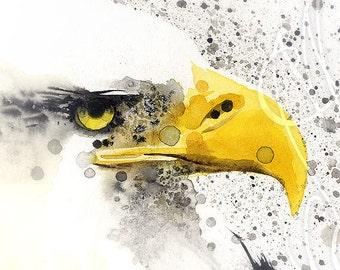 "Martinefa's Original watercolor and Ink ""Eagle"""