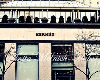 Hermes-New York Art- Preppy Photograph-Madison Ave Print-Fashion-French Fashion-Equstrian-Designer-Dorm Decor-Boutique-Parisian-Chic Picture