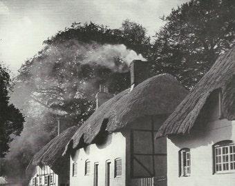 Micheldever, Hampshire Vintage cottage English countryside photograph Vintage ephemera repurposed