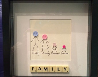 Family personalised frame