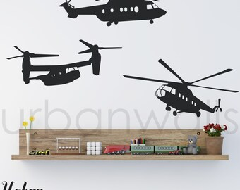 Vinyl Wall Sticker Decal Art - Helicopters