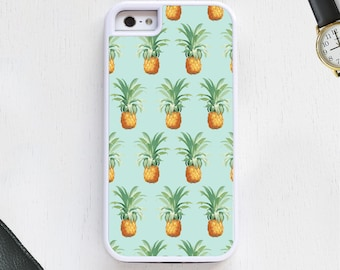 Hawaiian tropical pineapple cartoon fruit designer blue CellPhoneCase protective bumper cover iPhone6 iPhone7 Android s5 s6 s7 note4 note150