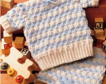 Instant Download PDF Crochet Pattern for Baby Sweater Set /6 – 18 months/Crochet Pattern- 263