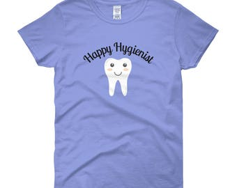 Women's Happy Hygienist Dental Fitted short sleeve t-shirt