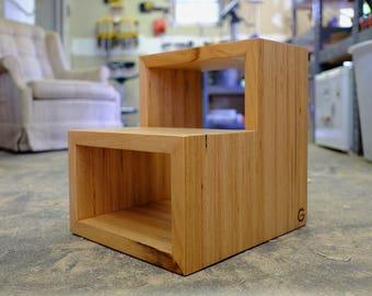 Handmade Modern Beech Step Stool