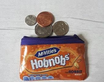 McVities Hobnobs Purse: Upcycled, Recycled and Repurposed Bag made Using a Recycled Biscuit Wrapper Handmade by mylittlesweethearts