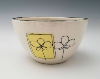 Small Porcelain Bowl, Small Serving Bowl, Ice Cream Bowl. Cereal Bowl, Dessert Bowl, Handmade Ceramic Bowl