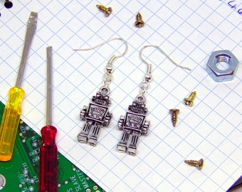 Robot Earrings - Sci Fi Jewellery - Robot Gifts - Robot Jewellery