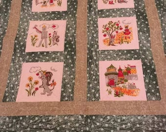 Wizard of Oz lap or baby quilt using vintage Vogart squares