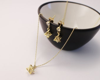 14K Gold Filled jewellery set, star jewellery set