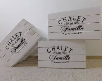 "Decorative white Obstkiste/wooden crate/crate in ""shabby Chic"" * with imprint"