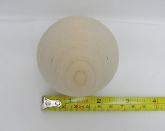 """large solid wooden ball, 2.5"""" wooden ball, 6.35 cm, 2 1/2"""" diameter ball"""