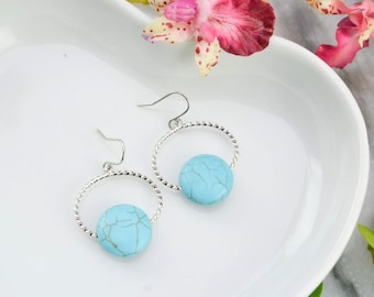 Turquoise earrings - Turquoise Jewelry - Jewelry boho - gyspy Jewelry - earrings turquoise drops