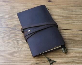 Genuine Leather Journal Notebook,Handmade Leather notebook,Notebook Cover,Refillable leather journals, Diary,Travel Journal,Husband  gift