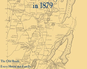 The Old Maps of Kennebec County, Maine in 1879