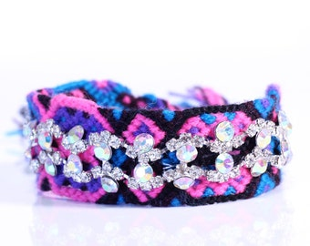 Chic Rhinestone Friendship Bracelets