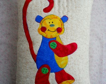 Throw Pillow Monkey - Kids Bed Pillows