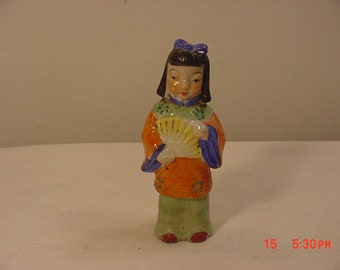 Vintage Japanese Woman Figurine Frozen Charlotte Doll  18 - 888