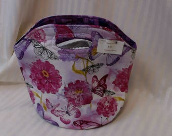 Butterfly insulated lunch bag