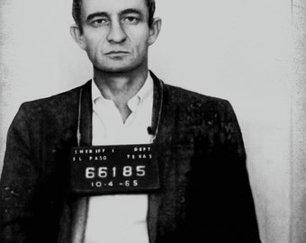 Johnny Cash Mugshot Photo Print Poster Mug Shot Photograph Vintage Pop Art Cool