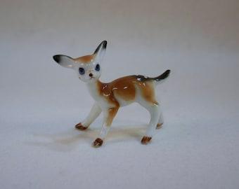Vintage Bone China Miniature Fawn, Deer Figurine