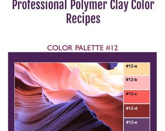 FIMO Professional Polymer Clay Color Mixing Recipes for Color Palette #12