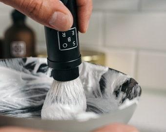 Black Aluminium Shave Brush Silvertip Fibre®