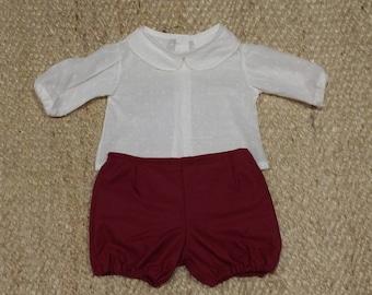 Garnet Cotton pant, white inner lining, handmade