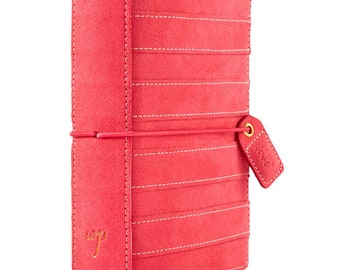 Webster's Pages Pink Suede Stripe POCKET Travelers Notebook