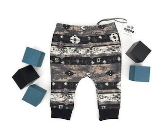 Urban Tribal Baby Boy Girl Harem Pants Baby Pants 0-3 months