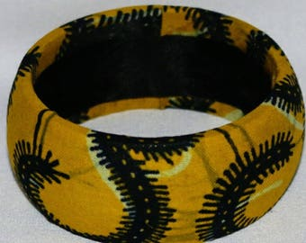 Bangle with African Adinkra cloth