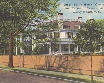 Rocky Mount, North Carolina, Battle Home - Vintage Postcard - Postcard -  Unused (H)