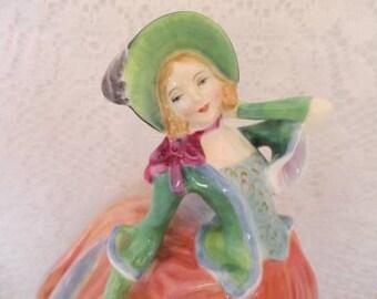 Beautiful Autumn Breeze Woman Vintage Figurine~Royal Doulton #HN1911