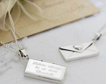 Sterling Silver Love Letter Locket