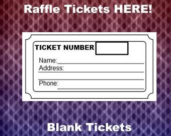 blank raffle ticket