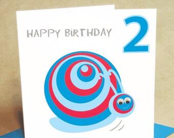Age 2 Boy Birthday Card